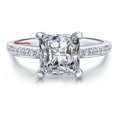 8246a6ecc56351 White Gold Filled Square Rings Cubic Zirconia Diamond Wedding Engagement  Rings For Women Bague Bijoux Femme Anillo - B E S T Online Marketplace -  SaleVenue