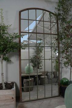 "Industrial French Garden Window Floor Mirror, 120 H"" For Sale Industrial Mirrors, Rustic Wall Mirrors, Vintage Mirrors, Garden Mirrors, Garden Windows, Royal Furniture, French Furniture, Mirror Furniture, Window Mirror"