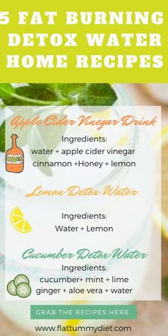 Infused water drink recipes to lose belly fat fast. These 5 fruit infused water will help you lose weight burn belly fat, and flush out toxins.