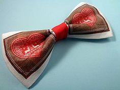 Perníkové srdce motýlik / Handmade bowtie