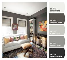Chip It! by Sherwin-Williams  (I like the dark colors - mmm!)