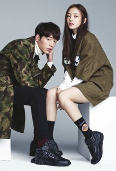 Hara and Seo Kang Joon - taking a look at Hara and Seo Kang Joon look magazine