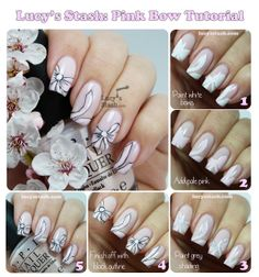 Lucy's Stash - Pink Bow Nail Art Tutorial