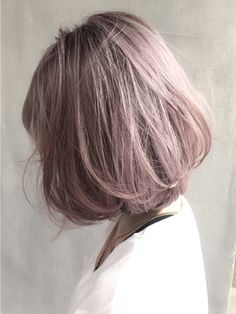 Musk pink hair color Style Hair Selection by Purple Grey Hair, Light Pink Hair, Hair Color Purple, Pelo Chocolate, Corte Y Color, Grunge Hair, Dyed Hair, Hair Inspiration, Cool Hairstyles