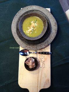 Erwtensoep met Prei - Munt en Ahornsiroop?!  #soep #servies #Recept #ah