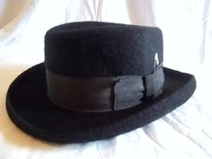 Vintage Black Mens Hat Size 7 1 2 by jclairep on Etsy 65bf003eb2e6