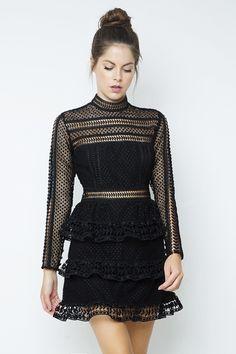 74918df2c59f Long-sleeved mini dress with ruffles & lace by Zini * Για αγορά online  πατηστε. Φορέματα ...