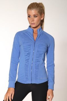 f0734c00c4 Front Rouched Panel Zip Jacket    Blockout Clothing - womens fashion