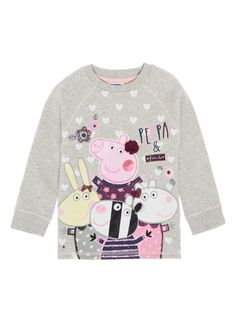 Character Shop Girls Grey Peppa Pig Sweat (9 months - 5 years) | Tu clothing Pegga Pig, Ian Harding, Girls Shopping, 5 Years, Baby Dress, Baby Kids, Little Girls, Girl Outfits, Character Design