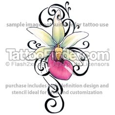 tribal orchid tattoo - Google Search