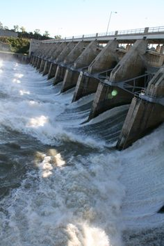 Gavins Point Dam, Yankton, SD - this is awesome to see. We would sit on inner tubes and sled down the hill next to the dam.