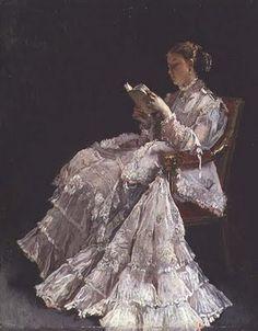 The Reader, c. 1860  Alfred Emile Stevens