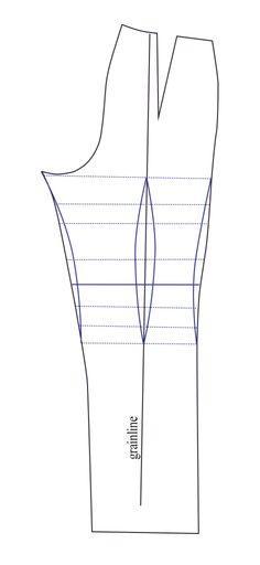Getting the trouser pattern that fits: A fish-eye dart.