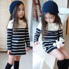 Too cute! Although I would put tights on her to make it more child like
