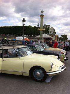 expo Paris 60 ans de la  DS a la place de la concorde