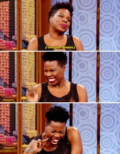 When she knew she was cute AF. | 19 Times Leslie Jones Was A Gift We Didn't Deserve