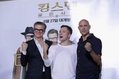 Colin Firth Photos - (L-R) Colin Firth, Taron Egerton and Mark Strong attend the 'Kingsman: The Golden Circle' press conference at Yongsan CGV on September 21, 2017 in Seoul, South Korea. - 'Kingsman: The Golden Circle' Press Conference