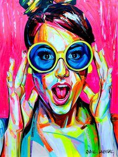 to inspire: feminine colors in pop art - RG OWN by Lu K! Art And Illustration, Pop Art Portraits, Portrait Art, Images Pop Art, Pop Art Face, Tableau Pop Art, Abstract Face Art, Abstract Portrait Painting, Pop Art Wallpaper
