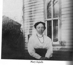 Mary Ingalls, near the end of her life. After Ma died in 1924, Mary lived with her sister Carrie in Keystone, SD.  She suffered a stroke and died in 1928 at age 63.