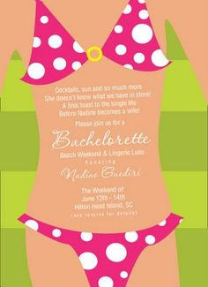 bachelorette party beach invitations | ... , Emily McCarthy : BLOG: Bachelorette Party Invitations: Beach Theme