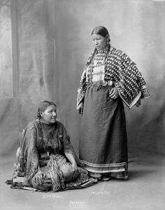 Bear Woman and Freckled Face Woman of the Arapaho Nation 1898.