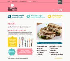 Website - Mango Tree by Lia Martini, via Behance Food Web Design, Creative Web Design, Web Design Trends, Web Design Inspiration, Work Inspiration, Website Layout, Web Layout, Ecommerce Web Design, Mango Tree