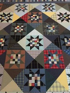 22 ideas sewing shirt pattern memory quilts for 2019 Flannel Quilts, Plaid Quilt, Star Quilts, Scrappy Quilts, Colchas Quilt, Patch Quilt, Quilt Blocks, Quilting Projects, Quilting Designs