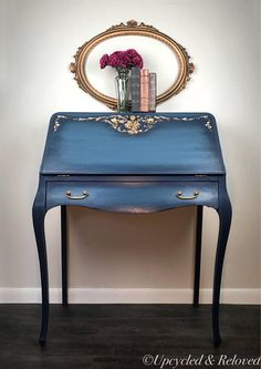 Items similar to SOLD Vintage French Secretary Desk Hand Painted Annie Sloan Pick Up Only on Etsy