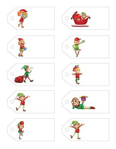 Free Printable Gift Tags! The Little Holiday Helper! A little gift for you from Letters from Santa    www.EasyFreeSantaLetter.com