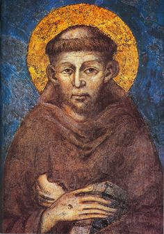 cimabue | Cimabue, St Francis (detail from Madonna in Majesty with the Child ...