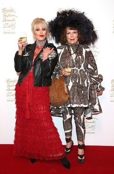 Absolutely Fabulous Quotes, Jennifer Saunders, Joanna Lumley, Ab Fab, Making A Movie, Old Women, Sequin Skirt, Fur Coat, Lady