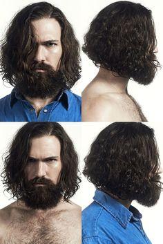 Jason Models Sleek & Wavy Hairstyles for Sergio Garcia Shoot