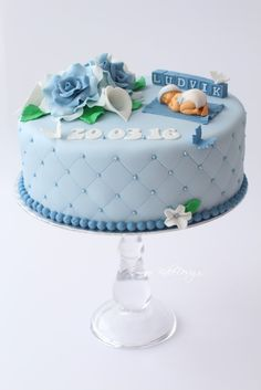 Bilderesultat for dåpskake Torta Baby Shower, Baby Shower Cakes For Boys, Baby Boy Christening Cake, Decoration Buffet, Shower Bebe, Baby Cakes, Occasion Cakes, Cake Tutorial, Savoury Cake