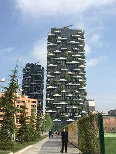 Il bosco verticale di Milano Eco Green, Green Architecture, Milano, Multi Story Building, Interior Design, City, House, Travel, Cities
