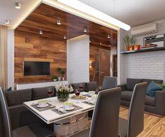 Проект квартиры-студии 36 кв.м. - Дизайн интерьеров | Идеи вашего дома | Lodgers