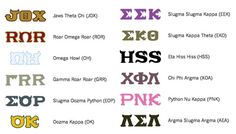 Monsters University Greek Life Could use as Greek Life bulletin board decoration for a MU themed hall.