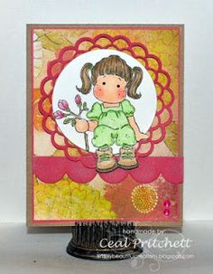 Loves Rubberstamps Blog - Design Team Member Ceal Pritchett using Magnolia Stamps
