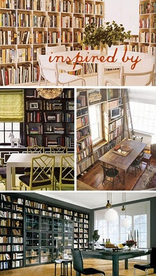 Dinebrary.  A dining room in your library.  A library in your dining room.  A dual use room called a dinebrary!