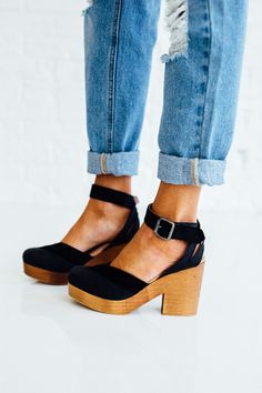 Walk This Way Clog in Black | CLAD & CLOTH – cladandcloth #clogs