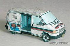 Paper wagon model Volkswagen Wendler Security Car