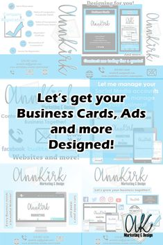 AnnKirk can help you with all of your designing needs! You Got This, Let It Be, Ads, Marketing, Website, Learning, Business, Quotes, Design