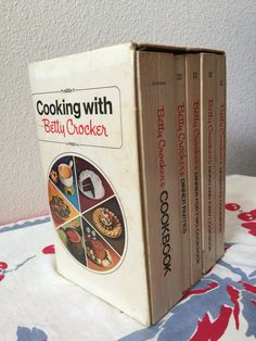 Betty Crocker Cookbook Box Set of 5 by GwendolynneMay on Etsy https://www.etsy.com/listing/464316800/betty-crocker-cookbook-box-set-of-5