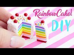 ☆ DIY RAINBOW CAKE! - in Polymer Clay ! ☆ - YouTube