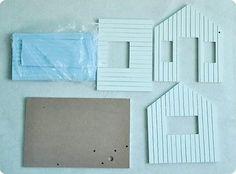 Miniatura Dollhouse Kit Diy Casa De Praia Com Luz De Controle De Voz E Caixa De Música