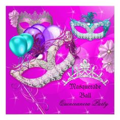 Find amazing Mardi Gras sweet 16 invitations at Zazzle! The best sweet sixteen invitations in a range of themes, styles & sizes. Masquerade Party Invitations, Birthday Invitations, Sweet 16 Masquerade, Sweet Sixteen Invitations, 17th Birthday, Purple Teal, Personalized Invitations, Invitation Design, Mardi Gras