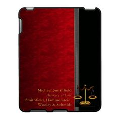 Branded lawyer ipad case (this one's a bit conservative for my taste)