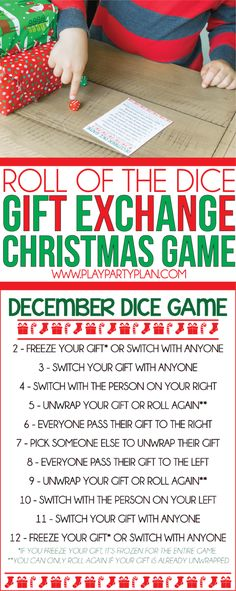 Dice gift exchange games you'll love