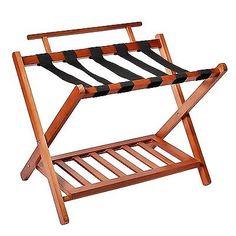 Luggage Straps 164799: Welland Llc Wood High Back Folding Luggage Rack  U003e  BUY IT