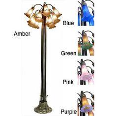 Tiffany-style Lily Bronze/ Amber Floor Lamp