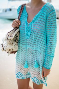 Calypso St. Barth Turquoise Cover Up - Gal Meets Glam